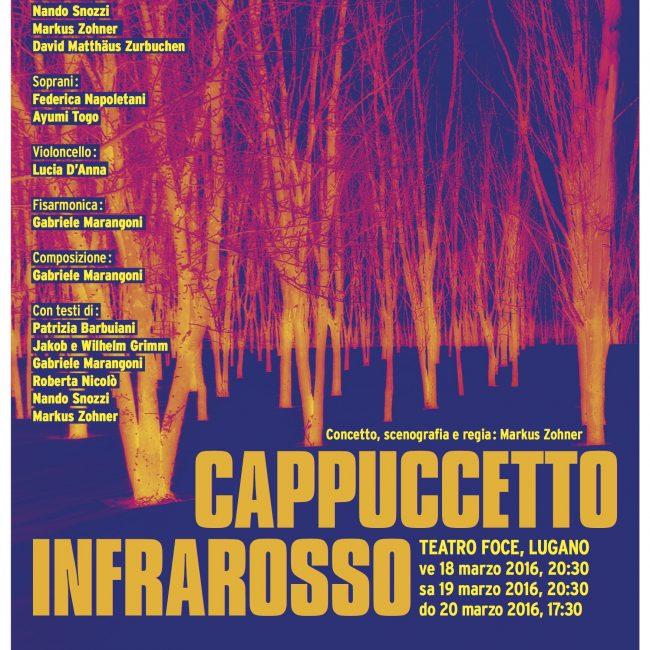 Locandina CAPPUCCETTO INFRAROSSO Markus Zohner Arts Company A3
